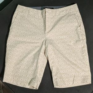 Banana Republic Tan Print Bermuda Shorts 0
